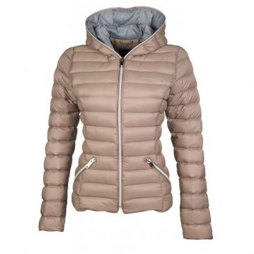 ella padded riding jacket hkm taupe