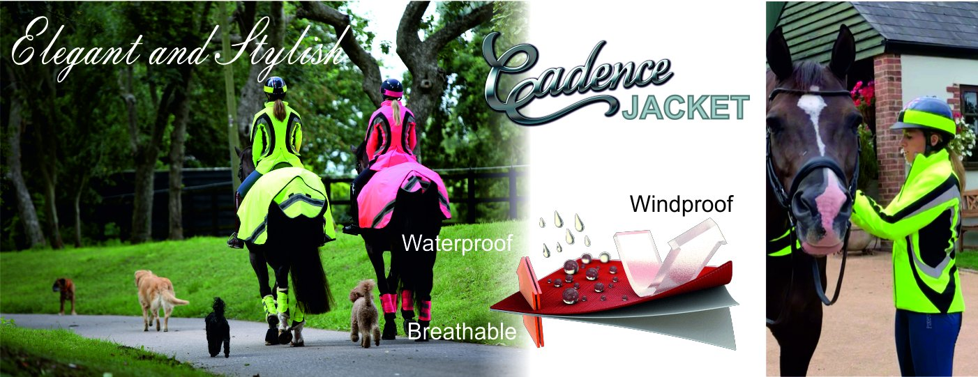 equisafety candace hiviz waterproof jacket