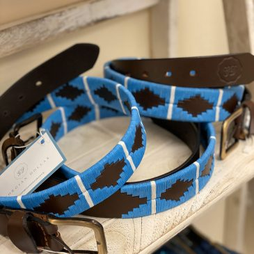 Georgian Dollar Polo Equestrian Belt Blue