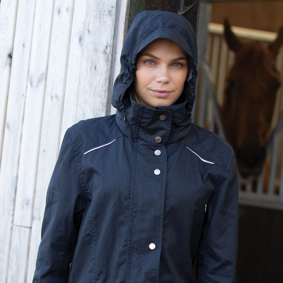venture long waterproof riding jacket