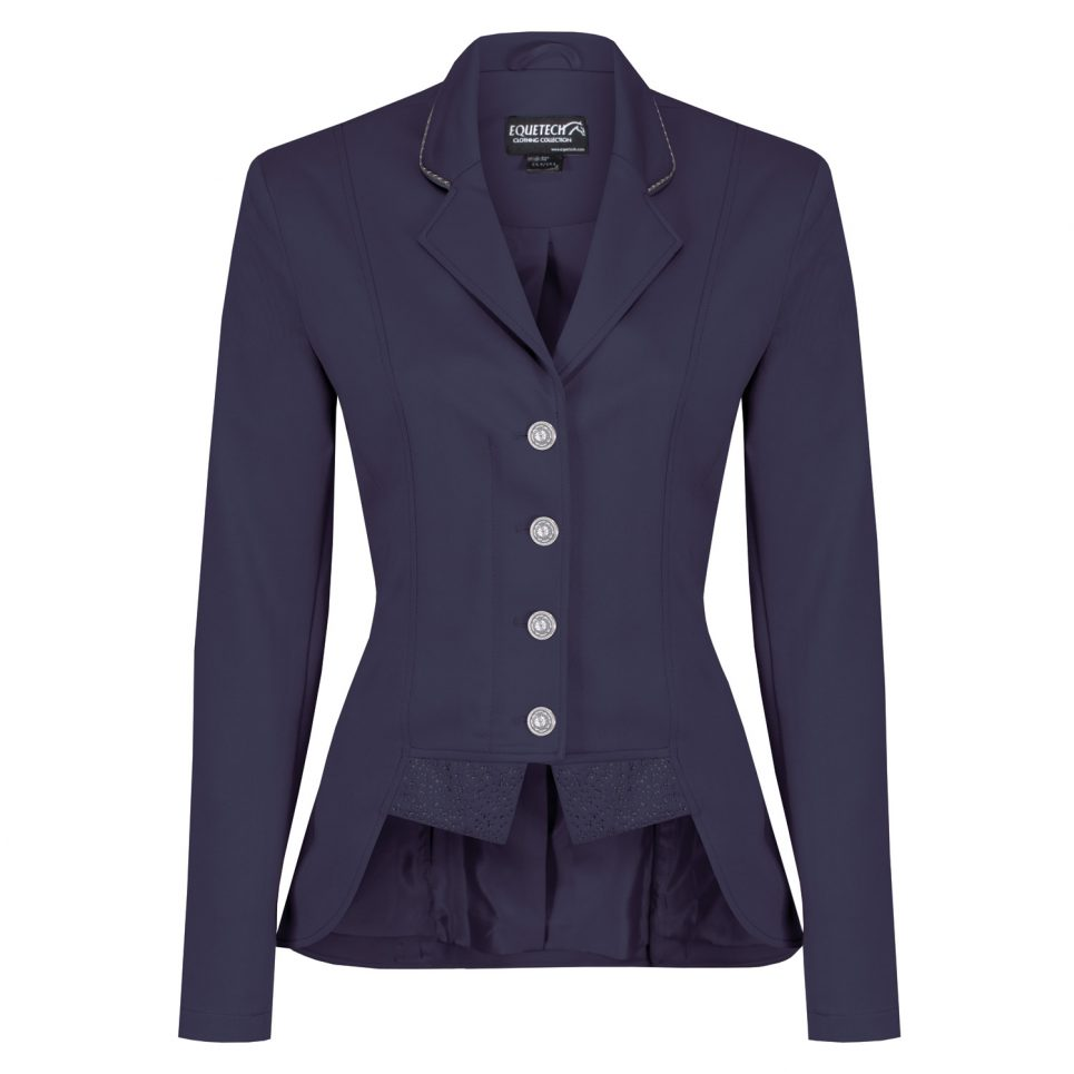 equetech moonlight navy competition jacket