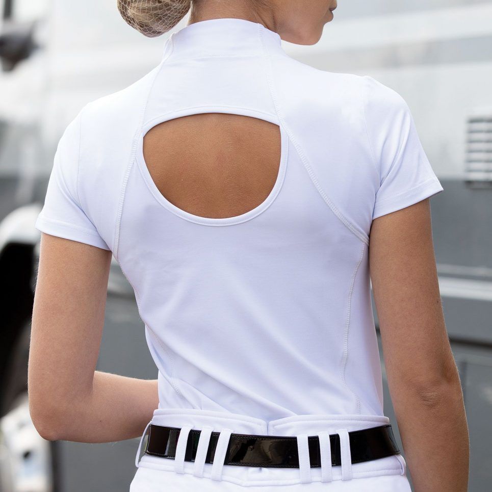 equetech elena white competition shirt no stock