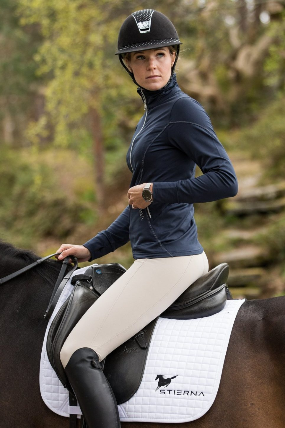 stierna fleece riding jacket