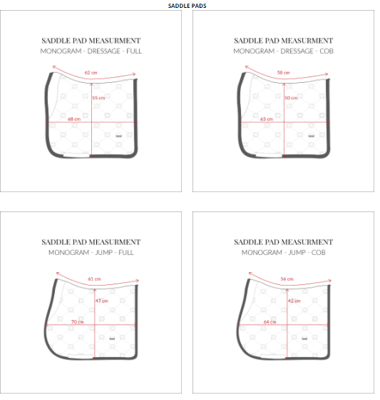 ps of sweden saddle pad size guide