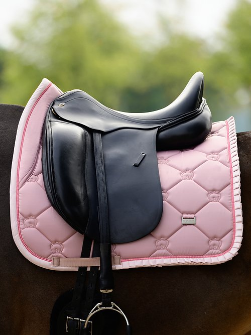 ps of sweden pink ruffle saddle pad