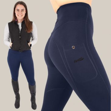 flexar riding tights navy
