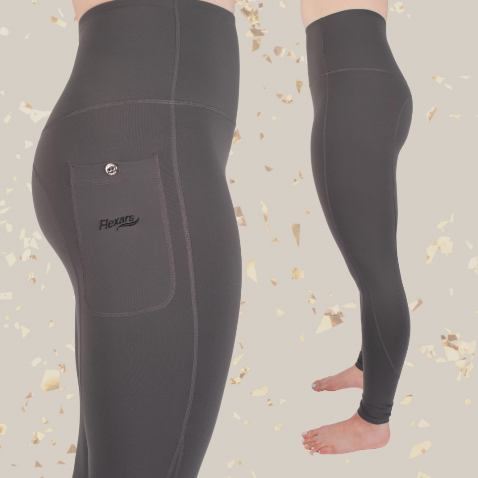 flexar riding tights grey